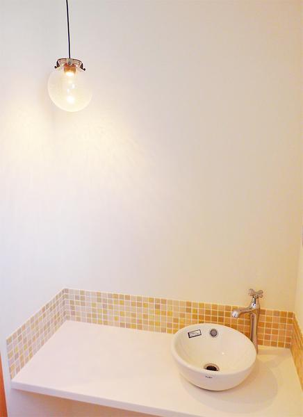 トイレ造作カウンター手洗い器