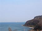 札幌方面の眺め。眼下に広大な海を見渡せます。