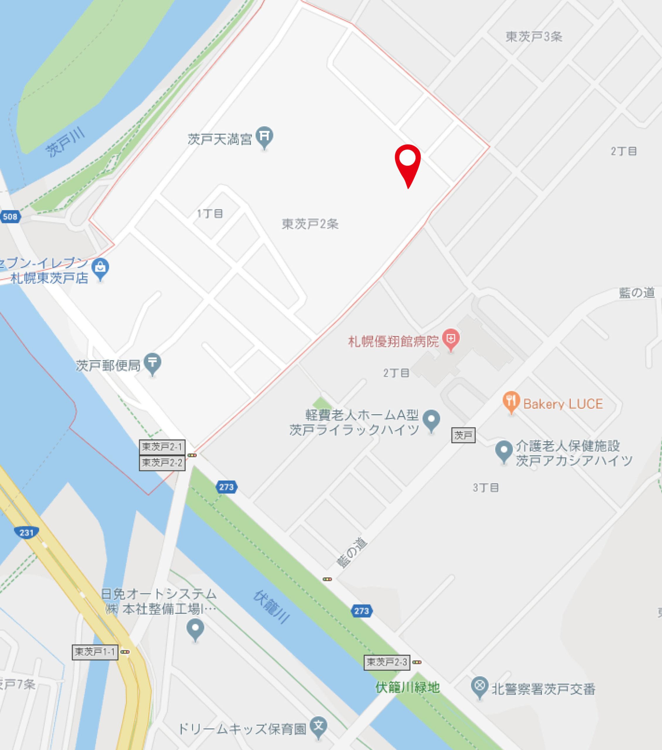 茨戸グーグルマップポイント